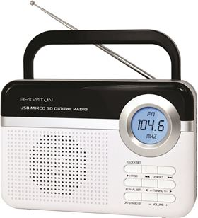 Brigmton radio digital usb/microsd/alarma blanco BRIBT_251_B - BRIBT_251_B