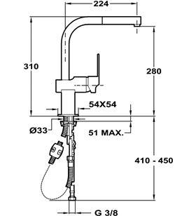 Teka fregadero mz938 caño giratorio 3893802 Grifos - 3893802