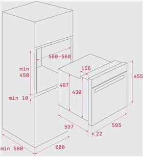Teka horno compacto hbc 625 p inox pirolítico 41534010 - 41534010