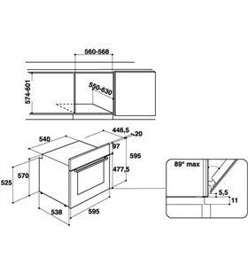 Hotpoint FA5 841 P IX HA oven Hornos eléctricos independientes - FA5 841 P IX HA