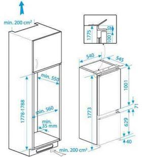 Beko frigorífico combi integrable BCHA275E3S Frigoríficos combinados integrables - BCHA275E3S