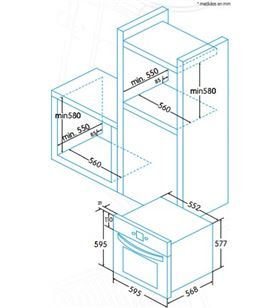 Edesa EOE6020X Hornos eléctricos independientes - EOE6020X