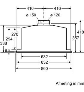 Siemens, LB89585M, extracción, módulo integración, a++, 86 cm, 800 m3/h, co - LB89585M
