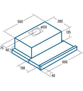 Campana Cata tf5260x extraible 60cm inox 02034310 Campanas extractoras convencionales - 02034310