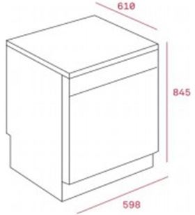 Teka lavavajillas lp8 820 blanco a++ 40782365 Lavavajillas - TEK40782365