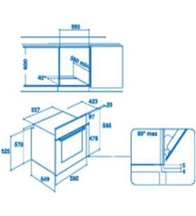 Indesit hornos IFW 6230 IX Hornos eléctricos independientes - 8050147027813