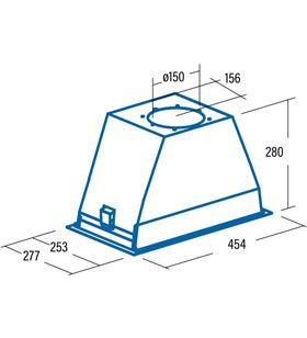 Cata GT PLUS 45 X 02030301 - grupo filtrante integrado gt plus 45x para mueble de 60cm c - GT PLUS 45 X