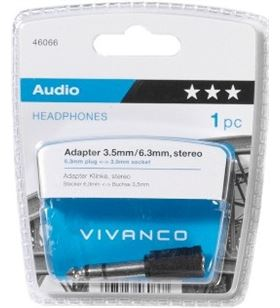 Adaptador Vivanco jack 6.35mm para auriculares 46066 - 46066