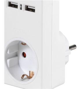 Adaptador corriente + 2 puertos carga usb 2.1amp Vivanco 34422 - VIV34422