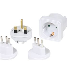 Adaptador viaje europa to uk/ch/it Vivanco 36217 Cables - VIV36217