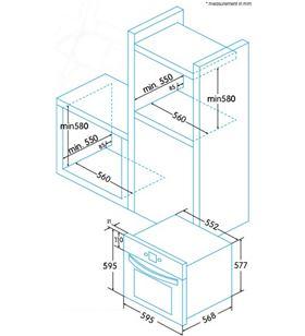 Edesa EOE-6040 X horno Hornos eléctricos independientes - EOE-6040 X