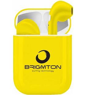 Auriculares boton Brigmton bml-18-b bluetooth amarillos BML18Y - BML18Y