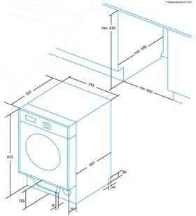 Edesa lavadora frontal integracion EWF-1480-I Lavadoras - EWF-1480-I