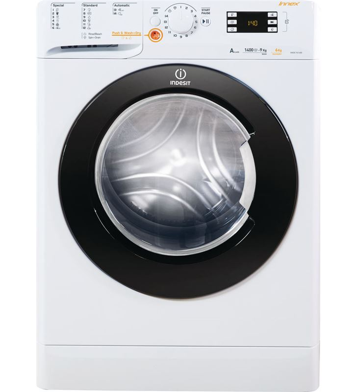 Lavadora secadora Indesit xwde 961480x wkkc de 9 kg y 1.400 rpm XWDE961480XWKKCEU.. - XWDE 961480XWKKC