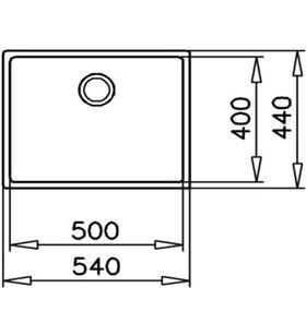 Teka 115000005 - fregadero pureline be linea rs15 50.40 bajo encimera - 8434778004304