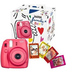 Kit Fujifilm camara instax mini 8 family box roja+imanes+ 70100138394 - 3660662025451