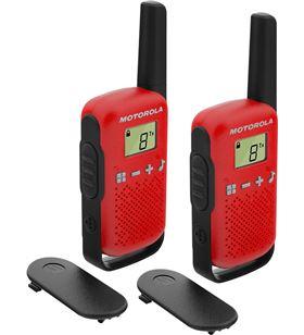 Motorola PMR-T42 ROJO talkabout t42 rojo walkie talkies 4km 16 canales pantalla lcd - +95922
