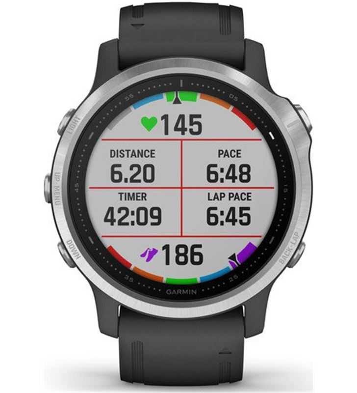 Garmin FÉNIX 6S PLATA negro con correa negra 42mm smartwatch premium multid - 74333080_6841384221