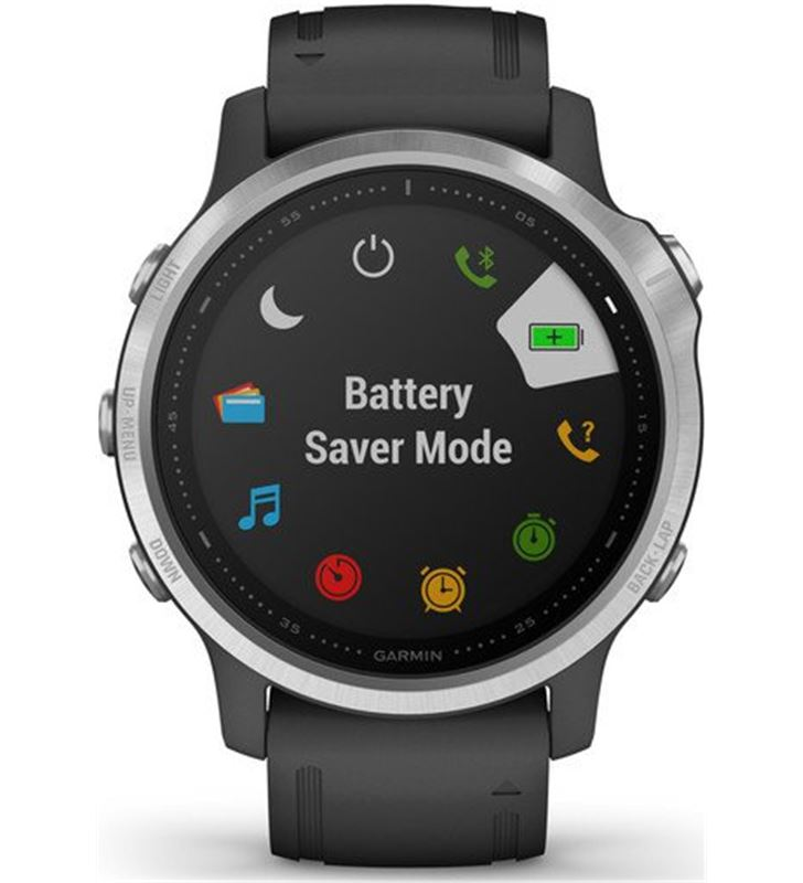 Garmin FÉNIX 6S PLATA negro con correa negra 42mm smartwatch premium multid - 74333080_8474668919
