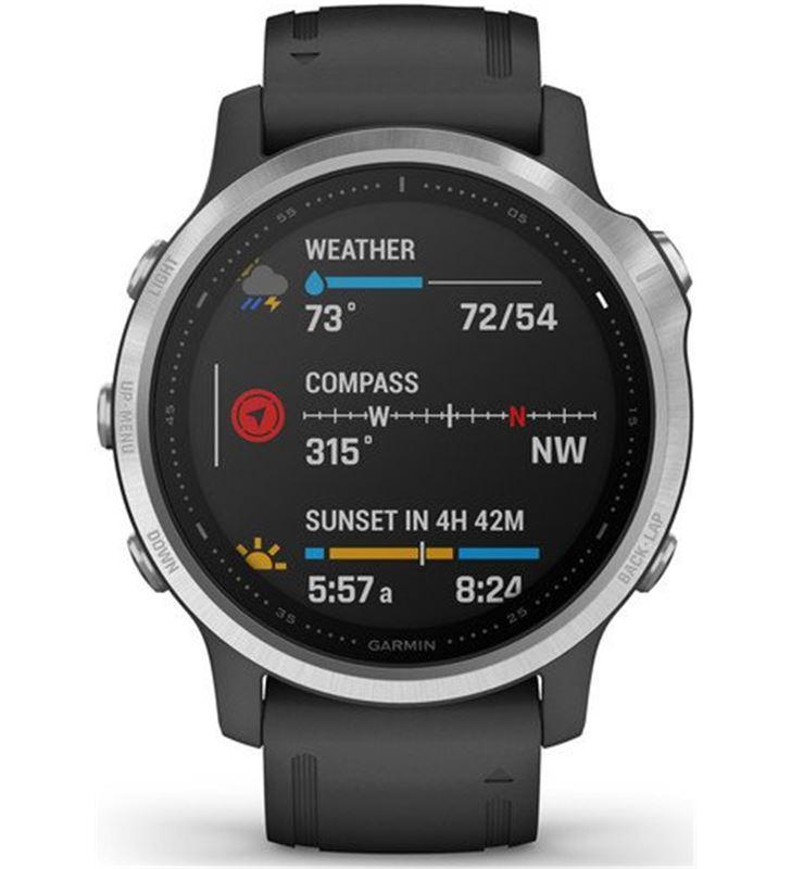 Garmin FÉNIX 6S PLATA negro con correa negra 42mm smartwatch premium multid - 74333080_9452303454