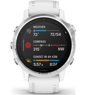 Garmin FÉNIX 6S PLATA blanco con correa blanca 42mm smartwatch premium mult - +21232