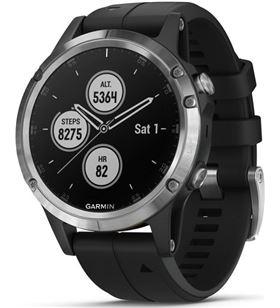 Garmin FÉNIX 5 PLUS PLata con correa negra 47mm smartwatch premium multidep - +99029