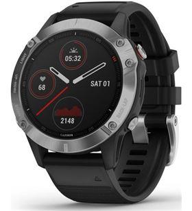 Garmin FÉNIX 6 PLATA N egro con correa negra 47mm smartwatch premium multide - +21335