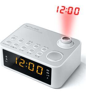 Muse M-178 PW blanco radio despertador am/fm con altavoz integrado y proyec - +21467