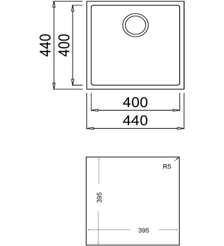 Fregadero Teka square 40x40 tg negro TEK115230025 Fregaderos - 71754793_5523727664
