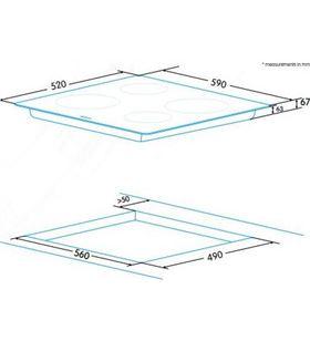 Edesa placa vidroceramica radiante redondeado EVT-6421 R - EVT-6421 R