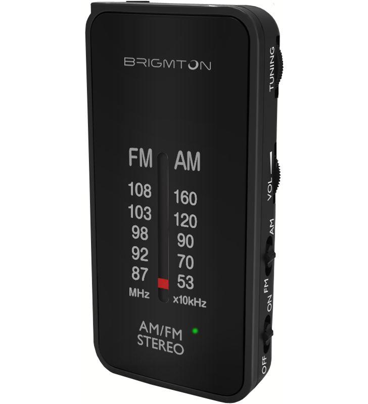 Brigmton BT-224-N negro radio am/fm analógica portátil a pilas - +20295