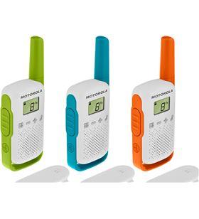 Motorola talkabout t42 triple pack walkie talkies 4km 16 canales pantalla l PMR-T42 TRIPLE - +96025