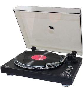 Lauson OM83 negro madera tocadiscos 2 velocidades con función encoding pitc - 8422926063631