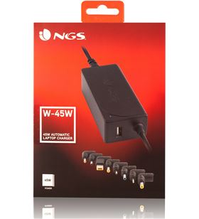 Cargador universal de portátil Ngs W-45W - automático - voltaje 19-20v - am - NGS-CAR W-45W