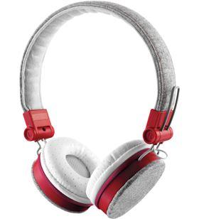 Auriculares Trust urban fyber grey/red - gran calidad sonido - plegables - 22643 - TRU-AUR 22643