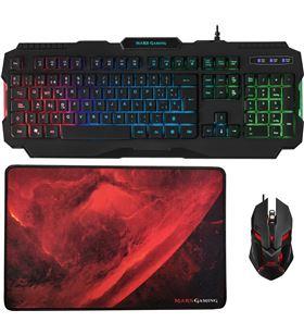 Pack Mars gaming rgb MCP118 - teclado rgb rainbow - ratón ergonómico rgb fl - TAC-PACK MARS MCP118