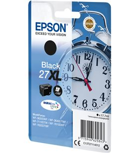 Cartucho negro Epson 27xl durabrite - 17.7ml - despertador C13T27114012 - EPS-C13T27114012