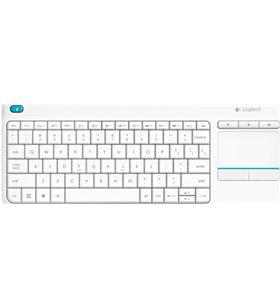 Teclado inalámbrico Logitech wireless touch blanco keyboard k400 plus - mul 920-007138 - LOG-TEC 920-007138