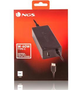 Cargador universal Ngs w-60w - toma usb tipo-c - automático - voltaje 5-20v W-60WTYPEC - NGS-CAR W-60WTYPEC