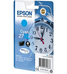 Cartucho cian Epson 27xl durabrite - 10.4ml - despertador - para wf-3620dwf C13T27124012 - EPS-C13T27124012