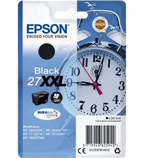 Cartucho negro alta capacidad 34.1ml Epson 27xxl - despertador C13T27914012 - EPS-C13T27914012