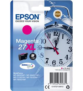 Cartucho magenta Epson 27xl durabrite - 10.4ml - despertador - para wf-3620 C13T27134012 - EPS-C13T27134012