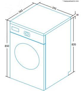 Edesa ewf-1280 wh lavadora carga frontal Lavadoras - EWF-1280 WH