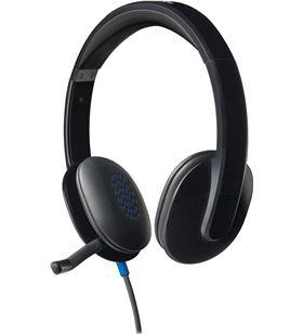 Auriculares diadema con microfono Logitech h540 control volumen en cascos u 981-000480 - LOG-AUR H540 NEGRO