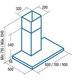 Cata campana splus 900x Campanas extractoras decorativas - SPLUS 900X