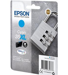 Cartucho tinta cian Epson 35xl - 20.3ml - candado - compatible según especi C13T35924010 - EPS-C13T35924010