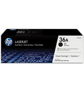 Toner negro Hp CB436AD nº36a láser 2000 páginas 2 unidades p1505 / p1505n / - CB436AD