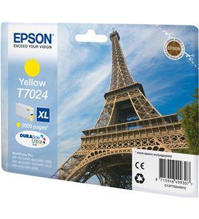 Cartucho tinta amarillo Epson t7024xl - 21.3ml - torre eiffel - para wp-459 C13T70244010 - EPS-T70244010