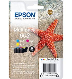 Multipack tinta Epson 603 3 tintas cyan magenta amarillo C13T03U54010 - EPSC13T03U54010