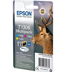 Cartucho tinta Epson t1306 - multi-pack cian/magenta/amarillo - 30.3ml - ci C13T13064012 - EPS-C13T13064012